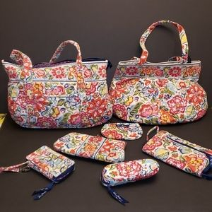 Vera Bradley Hope Garden 7 Pc set Purse Wallet Bag